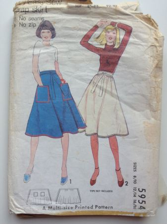 Sew Victoria Vintage Pledge Wrap Skirt Pattern