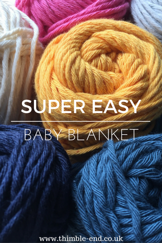 Knit a super easy baby blanket