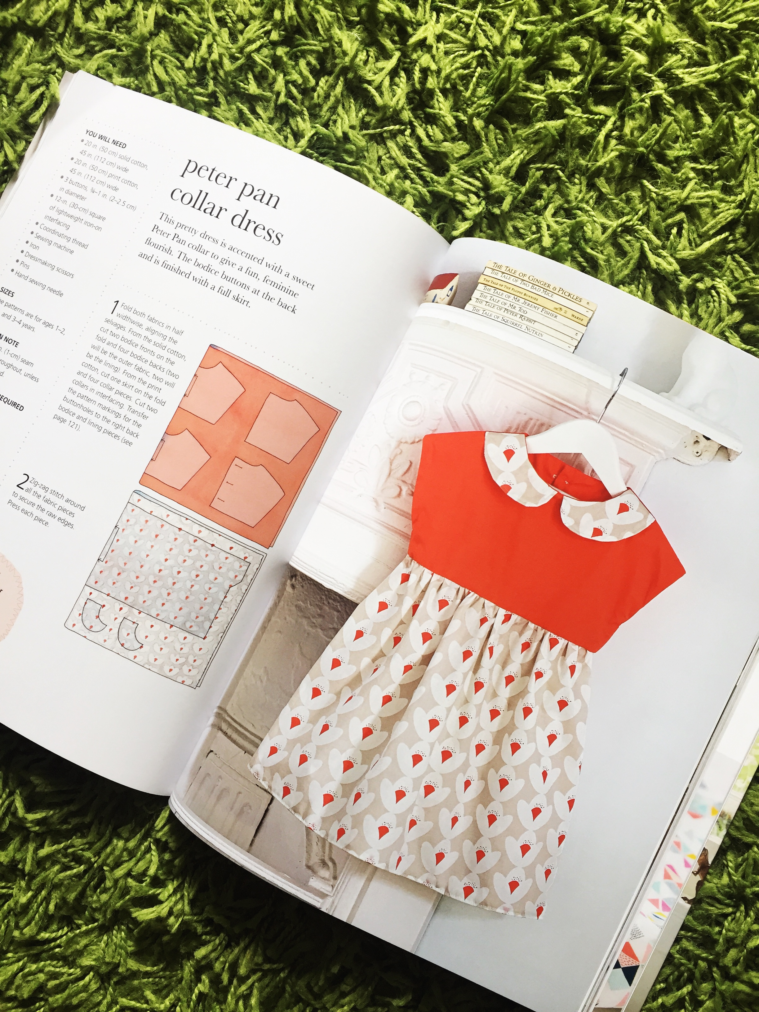 How to sew a beautiful Peter Pan Collar dress!