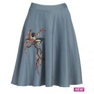 Embroidered magpie skirt