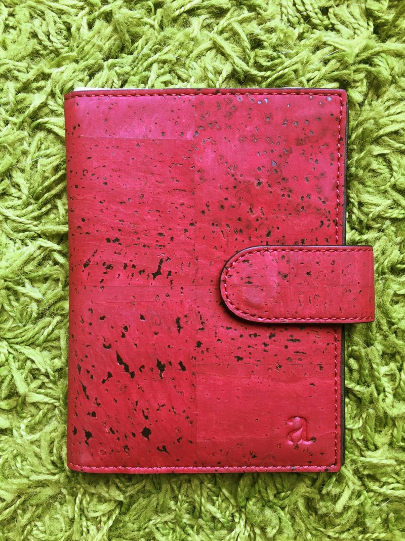 No, not leather... vegan eco-friendly cork leather!