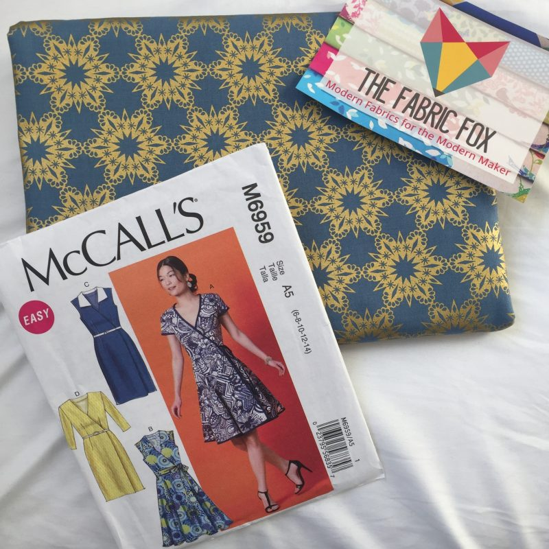 Sewing a Christmas dress with McCalls 6959