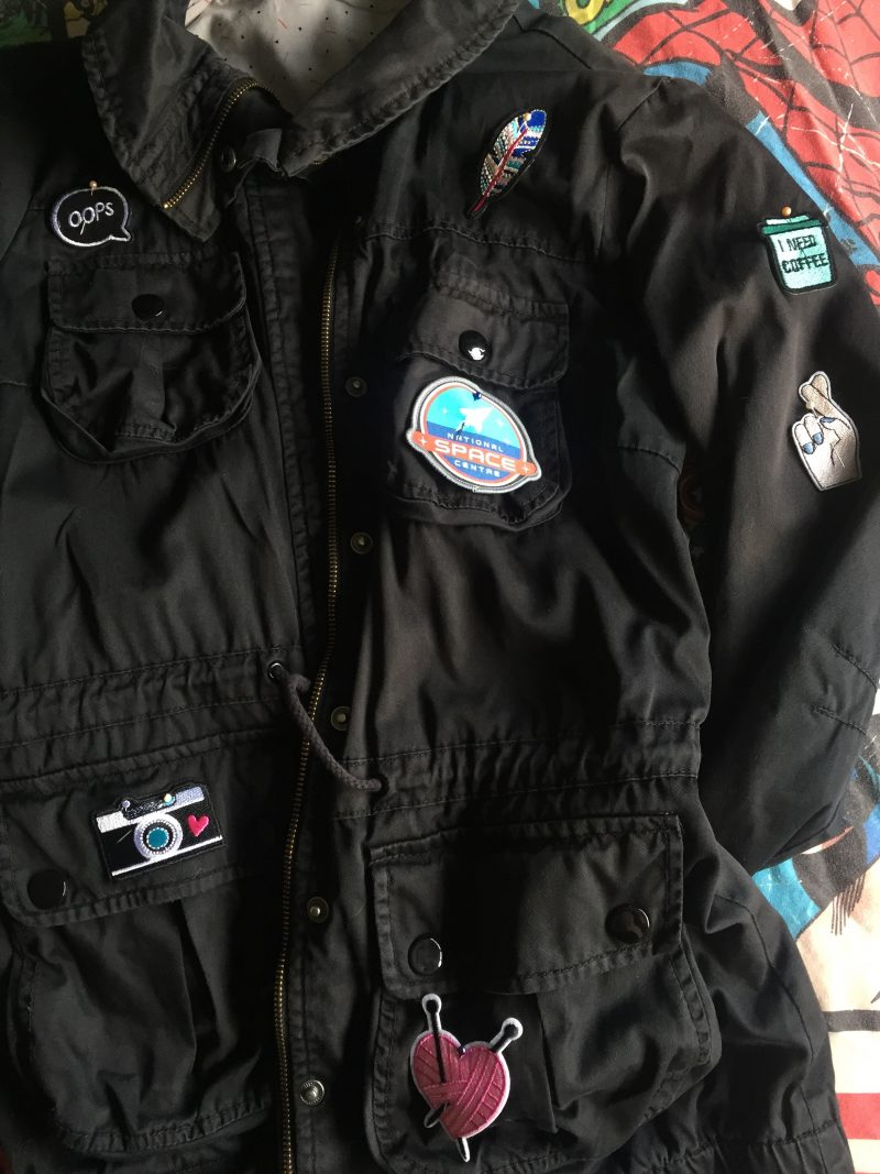 Personalising an old jacket
