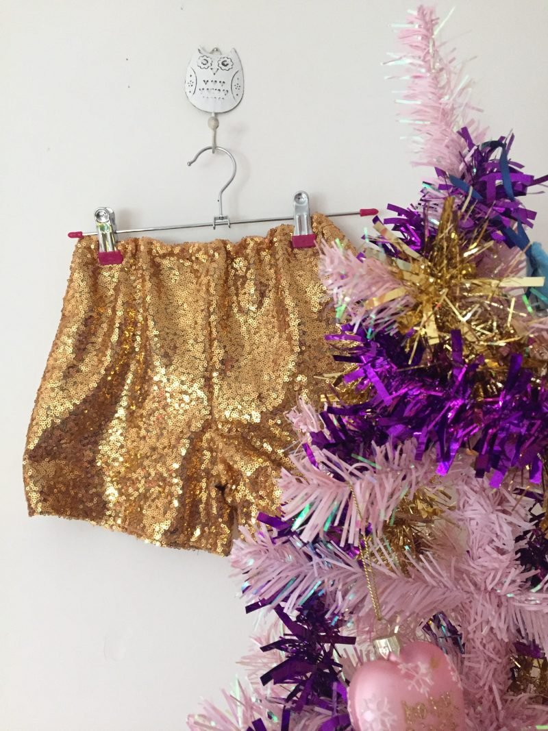 Gold sequin shorts using Simplicity 1144