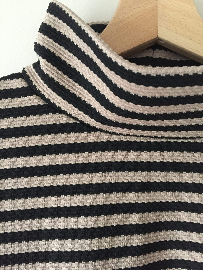 How I added a turtleneck to a long sleeved top pattern...