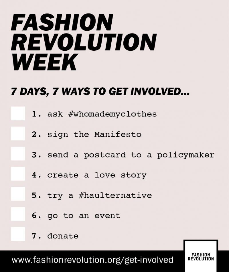 Get involved with Fashion Revolution Week!